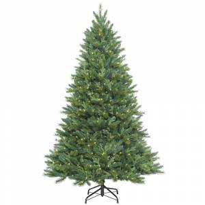 Drop Ship Baskets 7.5 ft. x 54 in. Dixon Mixed Pine Artificial Christmas Tree with 800 Warm White LED Lights