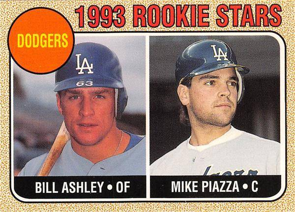 Autograph Warehouse 570409 Mike Piazza Rookie Card 1993 Baseball Magazine No.23 Hand Cut - Dodgers with Billy Ashley