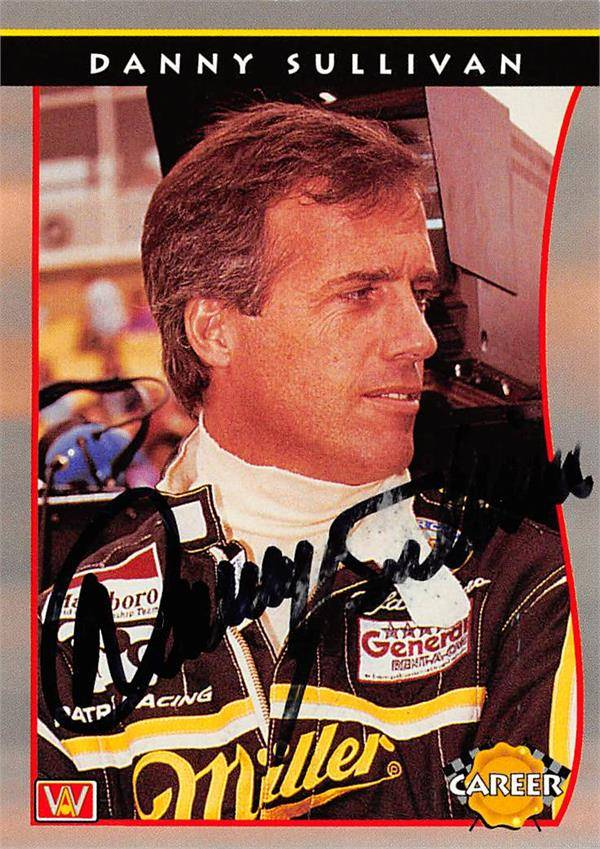 Autograph Warehouse 624717 Danny Sullivan Autographed Trading Card - Auto Racing, NASCAR, SC 1992 AW Sports PPG Indy Car World Series - No.78