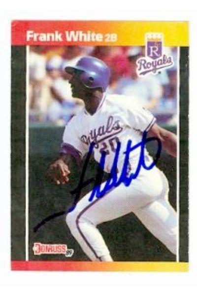 586262 Frank White Autographed Baseball Card - Kansas City Royals - 1989 Donruss No.85