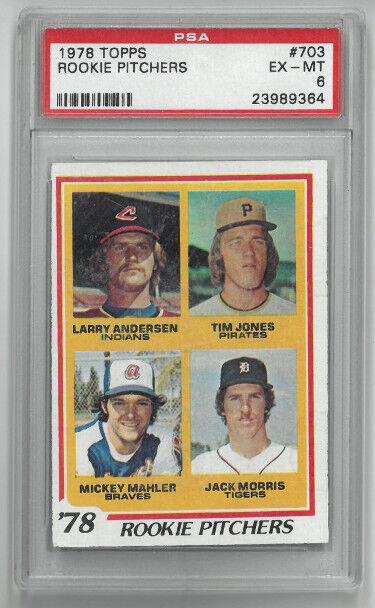 Athlon Sports CTBL-024768 Jack Morris Detroit Tigers 1978 Topps Rookie Pitchers Baseball Card No.703- PSA Graded 6 Excellent-Mint