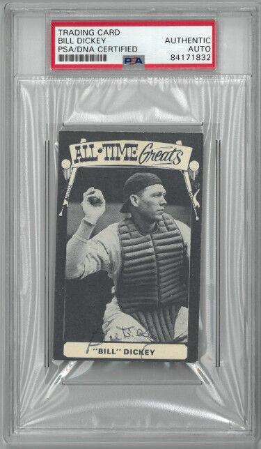 Athlon Sports CTBL-026319 Bill Dickey Signed 1973 TCMA All Time Greats Baseball Card - PSA Slabbed - New York Yankees & HOF