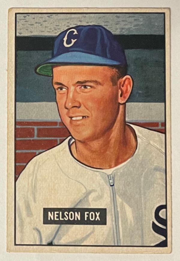 Athlon Sports CTBL-030392 Nelson & Nellie Fox 1951 Bowman Baseball Rookie Card RC No. 232 Chicago White Sox Autograph Baseball Cards