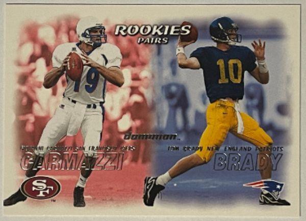 Athlon Sports CTBL-030501 Tom Brady 2000 Fleer Dominion Rookie Pairs Card RC No. 234 Michigan & New England Patriots Autograph Baseball Cards