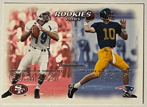 Athlon Sports CTBL-030518 Tom Brady 2000 Fleer Dominion Rookie Pairs Card RC No. 234 Michigan & New England Patriots Autograph Baseball Cards