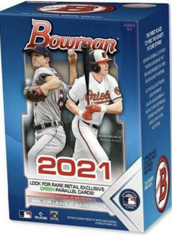 Athlon Sports CTBL-030533 2021 Bowman Topps MLB Baseball Blaster Box Factory Sealed 72 Cards Autograph Baseball Cards