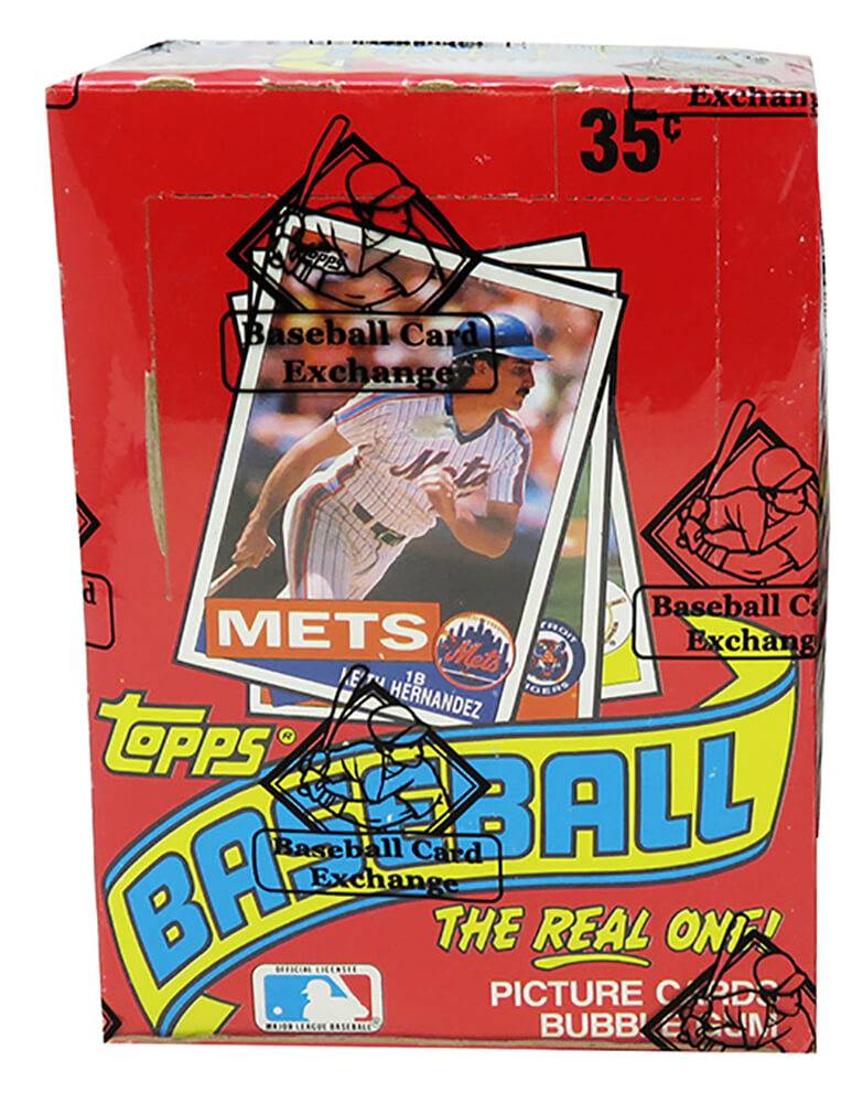 Schwartz Sports Memorabilia BX185TWE1 1985 Topps Wax Box BBCE Sealed Wrapped Unopened Baseball Card - Pack of 36