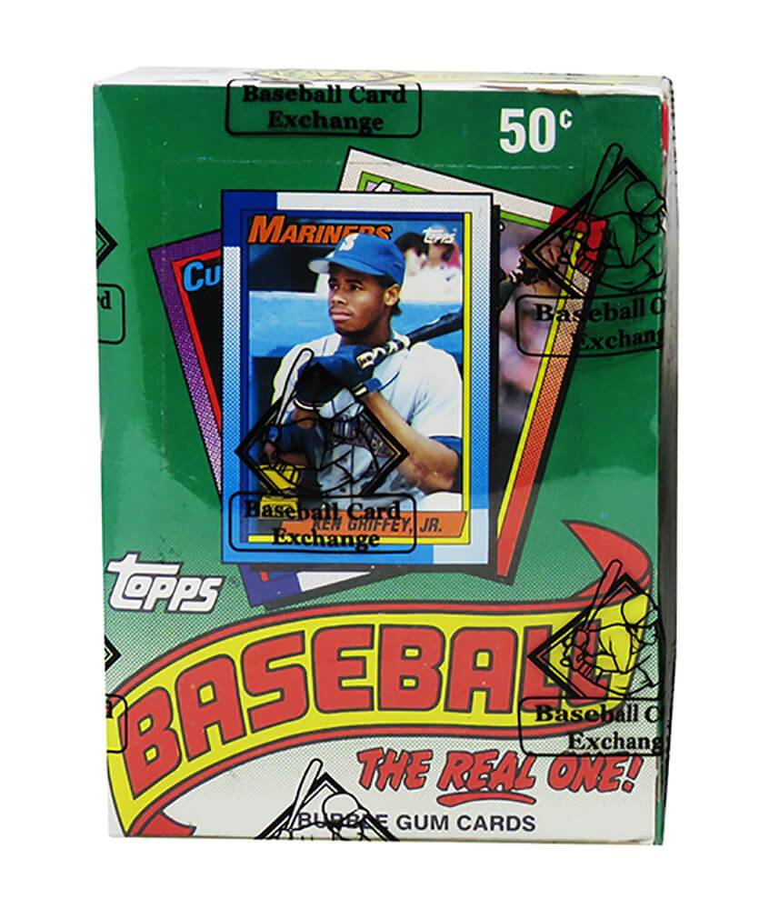 Schwartz Sports Memorabilia BX190TWE1 1990 Topps Wax Box BBCE Wrapped From A Sealed Case FASC Unopened Baseball Card - Pack of 36