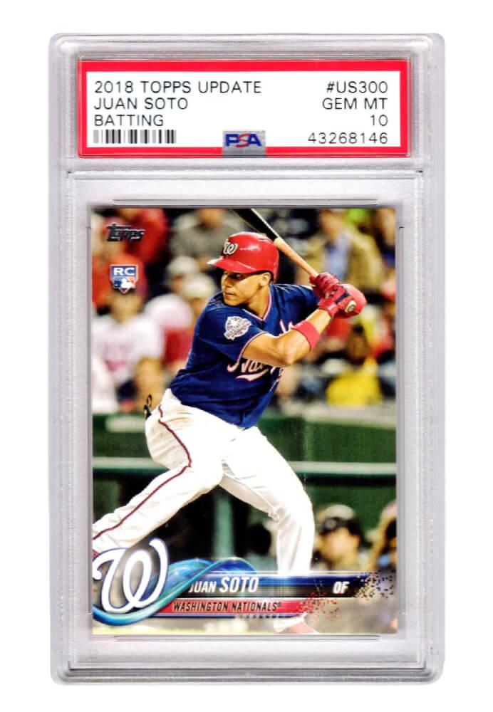 Schwartz Sports Memorabilia PS1JS18T1 Juan Soto Washington Nationals 2018 Topps Update Baseball No.US300 RC Rookie Card - PSA 10 Gem Mint