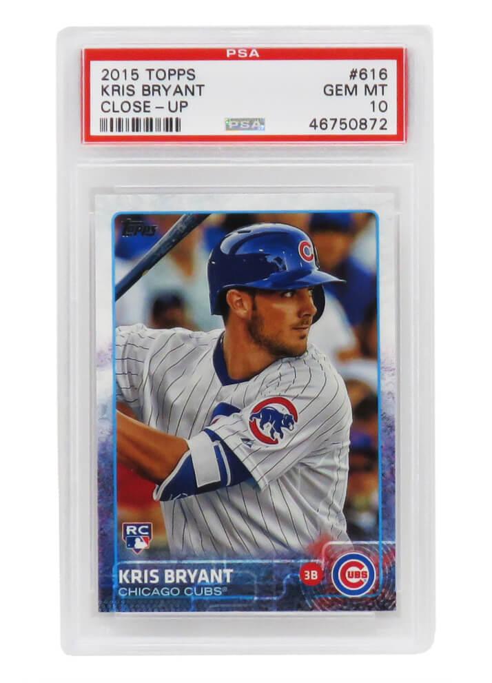 Schwartz Sports Memorabilia PS1KB15T1 Kris Bryant Chicago Cubs 2015 Topps Close-Up Baseball No.616 RC Rookie Card - PSA 10 Gem Mint