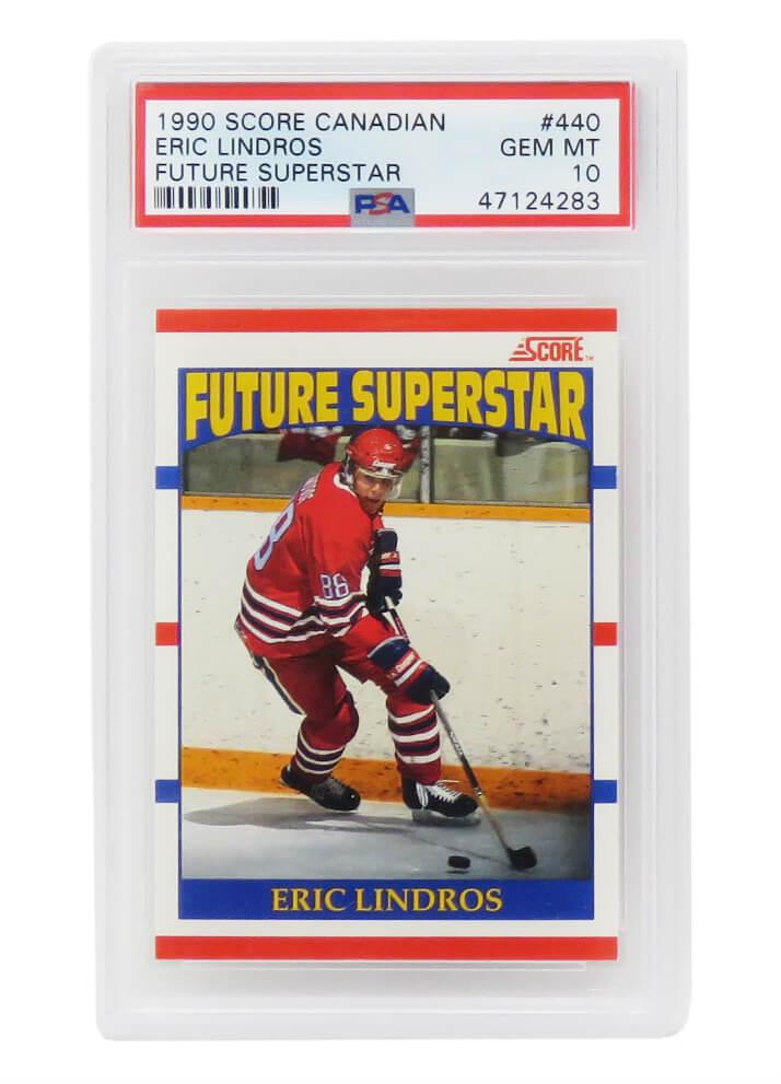 Schwartz Sports Memorabilia PS4EL90S1 Eric Lindros 1990 Score Canadian Future Superstar Hockey No.440 RC Rookie Card - PSA 10 Gem Mint