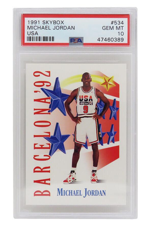 Schwartz Sports Memorabilia PS2MJ91S4 Michael Jordan Team USA 1991-92 Skybox Basketball No.534 Card - PSA 10 Gem Mint