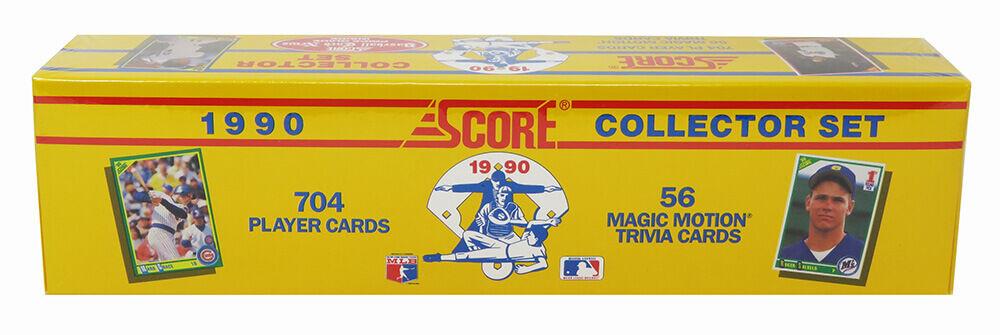Schwartz Sports Memorabilia BX190SFS1 1990 Score Baseball Unopened Factory Sealed Set 704 Cards for Thomas & Deion RCs