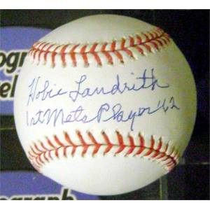 Autograph Warehouse 639251 Hobie Landrith Autographed Baseball - Inscribed 1st Mets Player 1962 OMLB