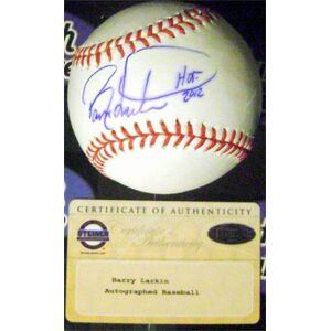 Autograph Warehouse 623749 Barry Larkin Autographed Baseball - Inscribed HOF 2012 - OMLB Cincinnati Reds - Steiner Sports Hologram Certificate Authenticity
