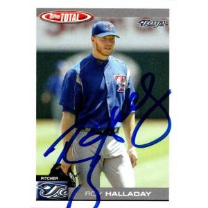 Autograph Warehouse 651106 Roy Halladay Autographed Baseball Card - Toronto Blue Jays, FT - 2004 Topps Total No.310