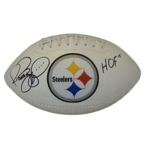 Denver 10510 Pittsburgh Steelers Logo with HOF & JSA Jerome Bettis Autographed Football