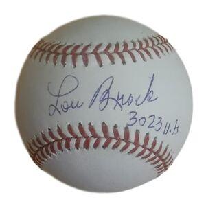 Denver 10649 St. Louis Cardinals OML 3023 Hits JSA Lou Brock Autographed Baseball
