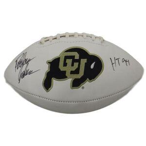 Denver 13078 Colorado Buffaloes Rashaan Salaam Autographed White Panel Football