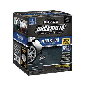 Rust-Oleum 1802024 RockSolid Polycuramine Floor Coating Kit, Extreme High Gloss Pearlescent Smoky Blue