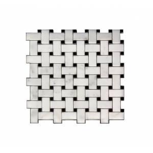 Legion Furniture MS-STONE17 1 x 2 in. Mosaic Mix with Stone Wall Tile, White & Gray