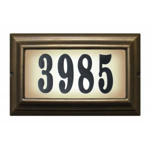 QualArc LTL-1301-ORB-PN 15 in. Edgewood Large Do It Yourself Kit Lighted Address Plaque in Oil Rub Bronze Frame Color