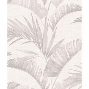 Arthouse 610600 Banana Palm Chalk Non-Woven Wallpaper, Grey