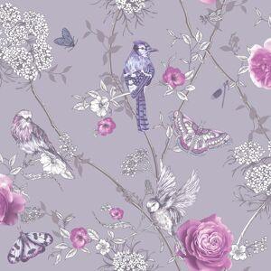 Arthouse 692404 Paradise Garden Wallpaper, Lilac