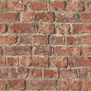Arthouse 696600 Urban Brick Wallpaper, Red
