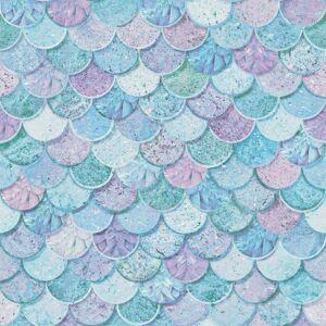 Arthouse 698305 Mermazing Scales Wallpaper, Ice Blue