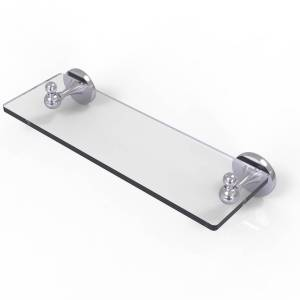 Allied SL-1-16-SCH 16 in. Shadwell Collection Glass Vanity Shelf with Beveled Edges, Satin Chrome