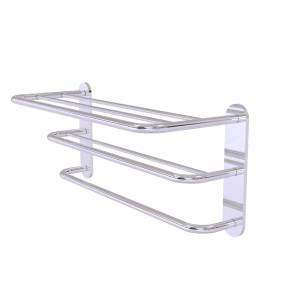 Allied HTL-3-PC Three Tier Hotel Style Towel Shelf with Drying Rack, Polished Chrome