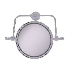 Allied RDM-4-2X-PC 8 in. dia. Retro Dot Collection Wall Mounted Swivel Make-Up Mirror with 2X Magnification, Polished Chrome