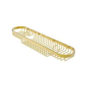 Allied BSK-275LA-PB Oval Combination Shower Basket, Polished Brass