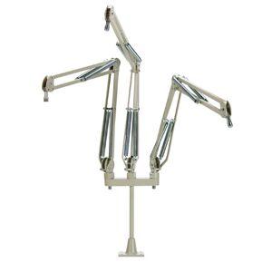 O.C. White OCW-519003 29 x 12 in. ProBoom Deluxe Triple Microphone Arm with Riser, Triple Microphone Riser - Beige