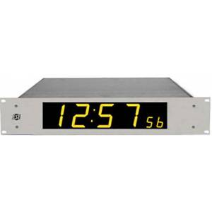 ESE ES-993U-NTP-CPOE NTP Time Display with PoE - 2.3 in. High Hour Minute & 1 in. High Second - Amber