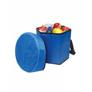 Sea Foam Company Buy Smart Depot G7370 Blue Folding Portable Game Cooler Seat - Blue