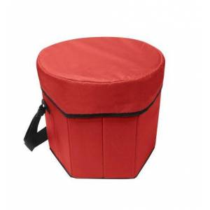 Sea Foam Company Buy Smart Depot G7370 Red Folding Portable Game Cooler Seat - Red