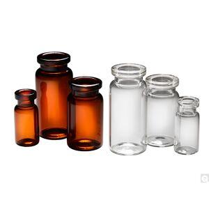 Bradley Caldwell 22.75 x 50 mm 10 ml Amber Borosilicate Glass Crimp Neck Serum Vial with 20 mm Neck Finish - Pack of 800