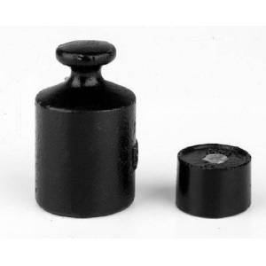 Bradley Caldwell 500 g M3 Class Cylindrical Calibration Test Weight with Lacquered Cast Iron