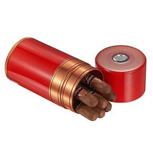 ILOVEU Big Joe Red Lacquer & Copper Cigar Travel Humidor
