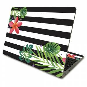 MightySkins SACHBO411-Tropical Stripes Skin Compatible with Samsung Chromebook 4 2021 11.6 in. - Tropical Stripes