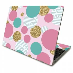MightySkins SACHBO411-Golden Bubbles Skin Compatible with Samsung Chromebook 4 2021 11.6 in. - Golden Bubbles