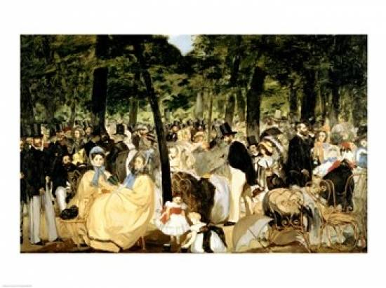 Posterazzi BALBAL3351LARGE Music in The Tuileries Gardens 1862 Poster Print by Edouard Manet - 36 x 24 in. - Large