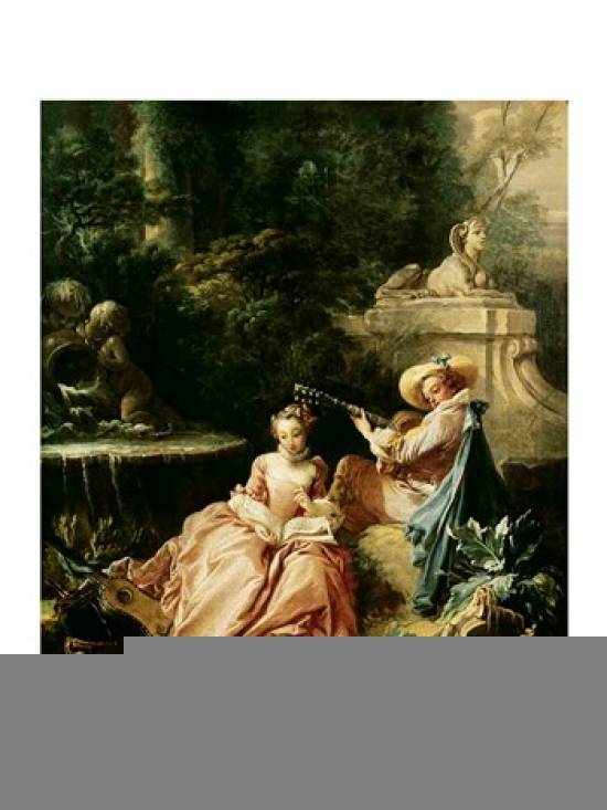 BrainBoosters The Music Lesson 1749 Poster Print by Francois Boucher - 24 x 36 in. - Large