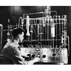 Posterazzi SAL2558635 Side Profile of an Engineer Operating Vacuum Fusion Gas Analyzer in a Laboratory Poster Print - 18 x 24 in.