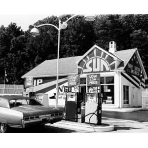 Posterazzi SAL2555129 Car at a Gas Station Poster Print - 18 x 24 in.