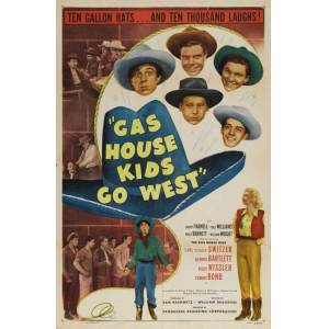 Posterazzi MOVIJ0175 Gas House Kids Go West Movie Poster - 27 x 40 in.