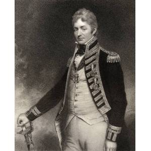 BrainBoosters Sir Thomas Troubridge 1st Baronet C1758 to 1807 English Admiral Engraved by W Holl After Sir W Beechey From the Book Nat Poster Print, 26 x 32