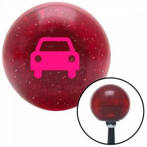 American Shifter Company American Shifter 56433 Pink Car Red Metal Flake Shift Knob with M16 x 1.5 Insert Shifter Auto Manual Brody